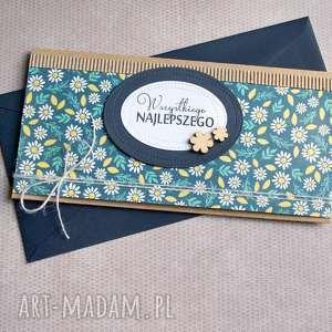 kartka - kopertówka :: stokrotki, urodziny, imieniny, ślub