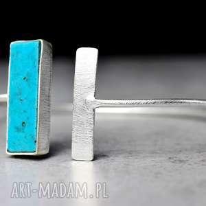 TURKUS 925 Srebrna bransoletka - ,kamień,mnierał,turkus,srebro,925,orient,
