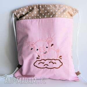 Worek / plecak ze świnką, worek, plecak, świnka, dziewczynka, bajka, przedszkole