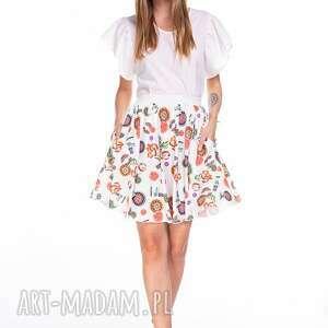 spódnice spódnica roxy, kolorowa, lekka, zwiewna, letnia, wzorki, rozkloszowana