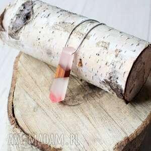 handmade naszyjniki drewniany naszyjnik z żywicą wirek