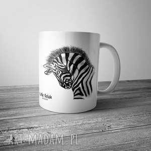 Kubek z zebrą rysowaną, rysunek, dom, kubek, zebra, kuchnia, kawa