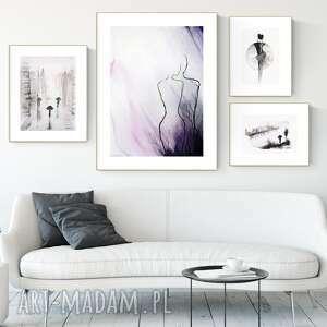zestaw 4 obrazów wykonanych ręcznie, abstrakcja, 2616321, obraz ręcznie