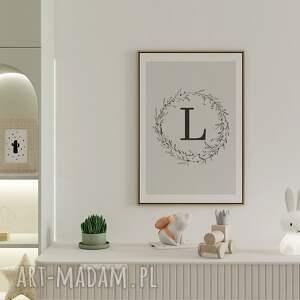 handmade pokoik dziecka plakat personalizowany z literą 50x70cm