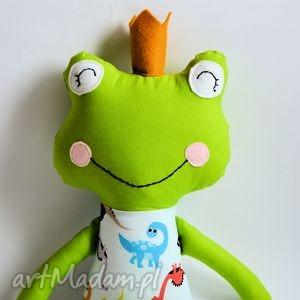 maskotki żabka - księżę z brzuszkiem w dinusie, zabawka, żabka, książę, maskotka