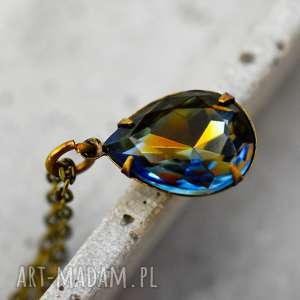 krystaliczne krople prawdziwy vintage łańcuszek - biżuteria, vintage