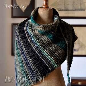 Asymentryczna chusta chustki i apaszki the wool art chusta