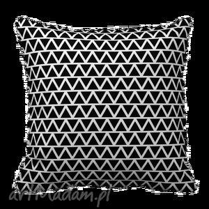 poduszka dekoracyjna trójkąt mozaika zyg zak zygzak 6194, poduszka, dekoracja, czarno