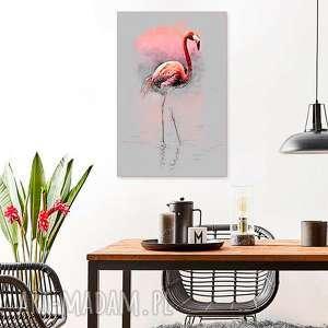 grafika na płótnie, flaming, 50 x 70, elegancki minmalizm, obraz do salonu