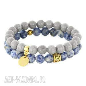 blue, grey gold set, jadeit, jaspis, moneta