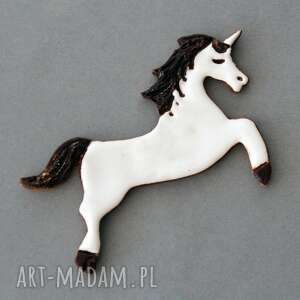 handmade magnesy jednorożec - magnes ceramiczny