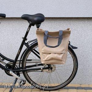 torba rowerowa san marino beż, rower, torba, praca, zakupy, prezent