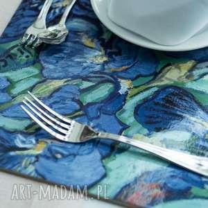 podkładki podkładka na stół duża z obrazem vincenta van gogha irysy, jadalnia