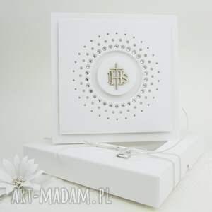 hand-made scrapbooking kartki 11 zaproszeń w pudełkach