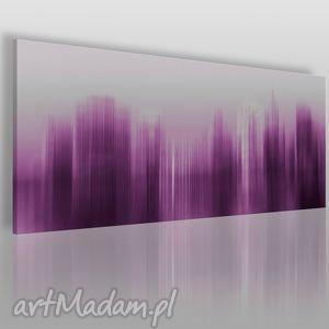 Obraz na płótnie - abstrakcja nowy jork fiolet 120x50 cm 05402