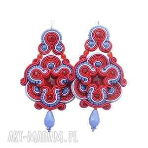 kolczyki divine red soutache, ludowe, orientalne