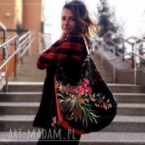 prezent na święta, flowers hobo torba, torebka worek, ramię