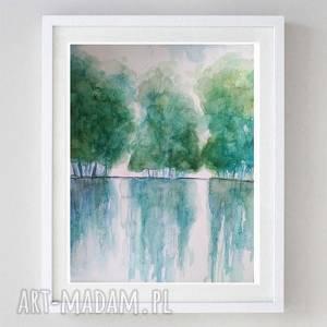 Akwarela-DRZEWA-FORMATU A4, akwarela, drzewa, kredki, farba, papier