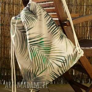 plecak - worek, plecak, motyw botaniczny, prezent, palmy
