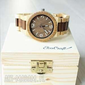 drewniany zegarek albatross, bransoleta, drewniany, męski, drewno, prezent