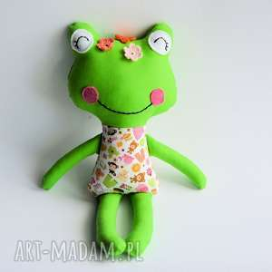 ręcznie zrobione zabawki żabka - wersja s - julka - 35 cm