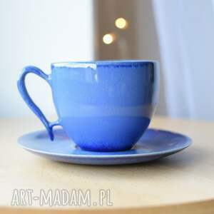 filiżanka indygo 270 ml ceramiczna, filiżanka, niebieska ceramiczna