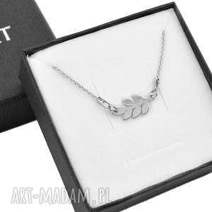 naszyjniki srebrny naszyjnik gałązka oliwna pudełko, srebrny, naszyjnik