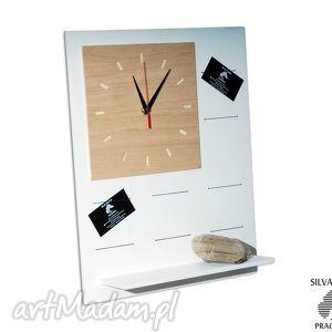 set1 - organizer drewniany zegar bezgłośny, organizer, zegar, cichy, biuro