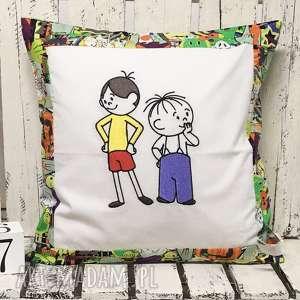 Poduszka z haftem 40x40cm Bolek i Lolek, poduszka-dziecięca, bolek-i-lolek, lilek,