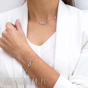komplet bransoletka i naszyjnik together forever /na zawsze razem/, biżuteria