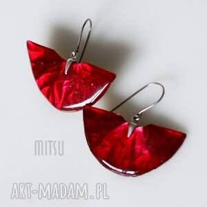 hand-made kolczyki red diva