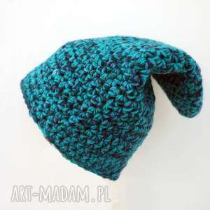 czapka hand made no 022 / beanie szydło, zimowa, ciepła czapka