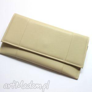 Kopertówka - jasny beż torebki niezwykle elegancka, wieczorowa