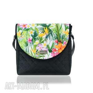 farbotka torebka puro 2054 tropical, pojemna, mała, zgrabna, torebkawkwiaty