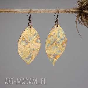 kolczyki liście glamorous