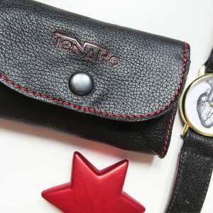 portmonetka skórzana mini z zatrzaskiem, portmonetka, prezent, mini, portfel