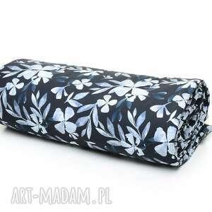 kocyk kołderka 100x135 bawełna blue flowers pracownia, wyprawka