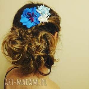 handmade ozdoby do włosów grzebyk kwiatowy sesja ślub
