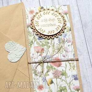 handmade kartki i żyli długo szczęśliwie - na łące