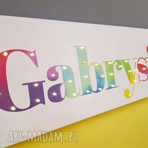 COSnieCOS NAPIS LED Twoje Imię personalizowany prezent urodziny