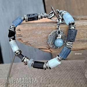 ręcznie robione niebieska - bransoletka