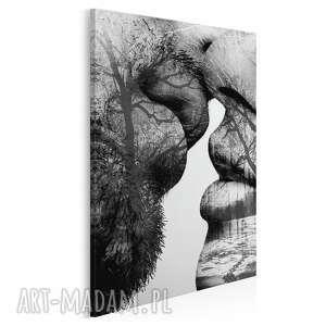 obraz na płótnie - pocałunek drzewa w pionie 50x70 cm 29505