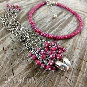 rubinowy komplet, rubin, grona