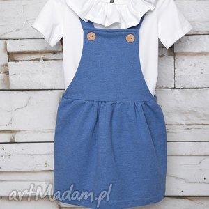 sukienka ogrodniczka blue 62-98, ogrodniczka, szelki, jeans, elegancka dla dziecka
