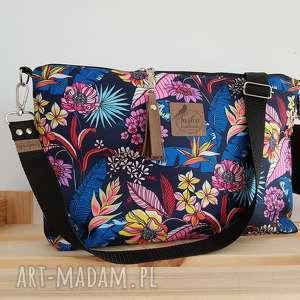 torebka mini plus pocket kwiaty madagaskaru frędzel washpapa - od ręki