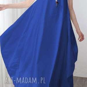 sukienki sukienka niebieska oversize długa lato boheme, sukienka, lato