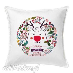 poduszka świąteczny jelonek, poduszka, święta, gwiazdka, dekoracje, mikołaj