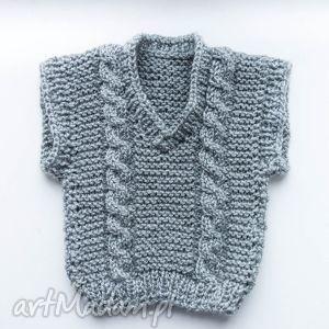 KAMIZELKA NIEMOWLĘCA 0-18 M, kamizelka, sweterek, chłopiecy, niemowlęcy, wełniany