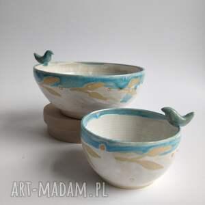 handmade ceramika zestaw dwóch misek
