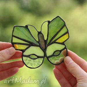 Motyl - smak limonki witraże pi art wiraż, tiffany, motyl